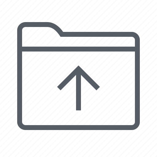 arrow, folder, interface, upload icon