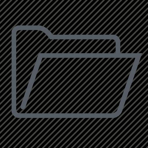 folder, interface, open icon