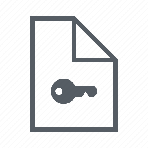 document, file, interface, key, lock, security icon