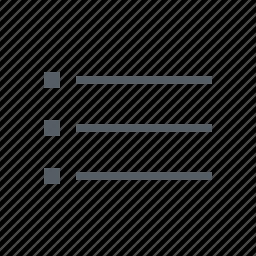 interface, list icon