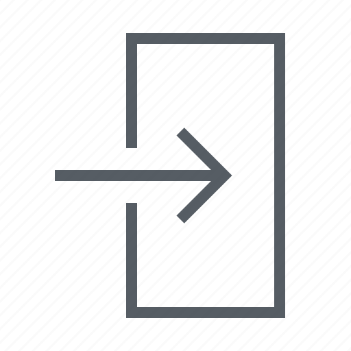 arrow, in, interface, login, sign icon