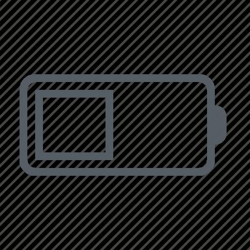 battery, interface, medium icon