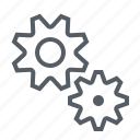 cogs, gears, interface, settings icon