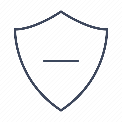 minus, protection, security, shield icon