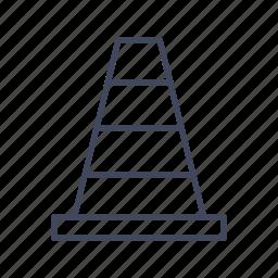 cone, sign, traffic, traffic cone, under construction icon
