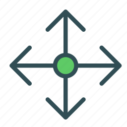 arrow, circle, target icon
