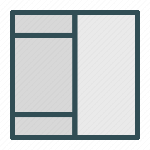 browser, column, layout, website icon