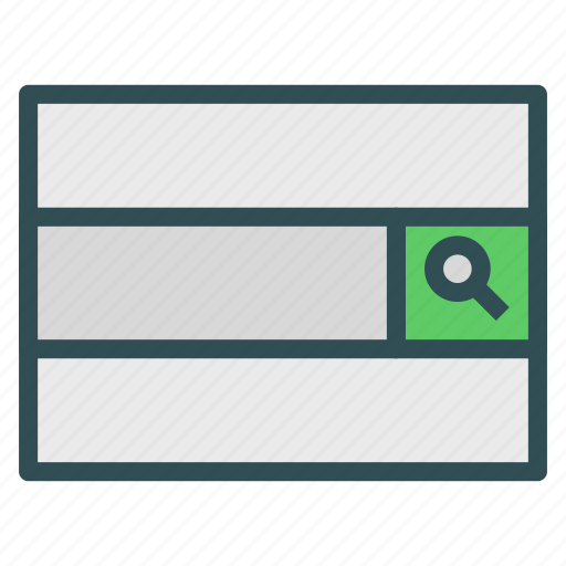 bar, browser, search icon
