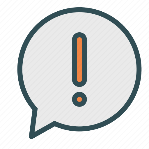 bubble, chat, exclamation, sign icon