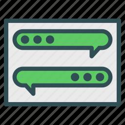 chat, messenger, window icon
