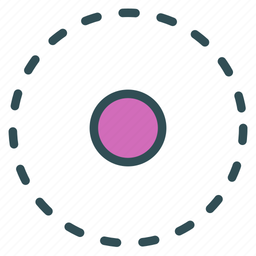 circle, dotted, shape, target icon