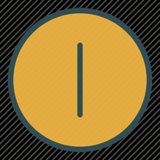circle, dividing, line, shape, vertical icon