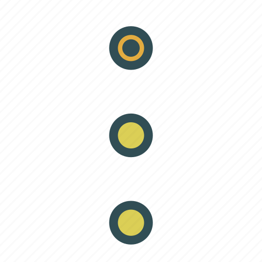 circles, lights, semaphore, shape icon