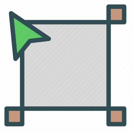 box, cursor, edit, scale icon
