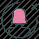 avatar, cancel, female, figure, multiply, user icon