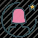 avatar, favorite, female, figure, star, user icon
