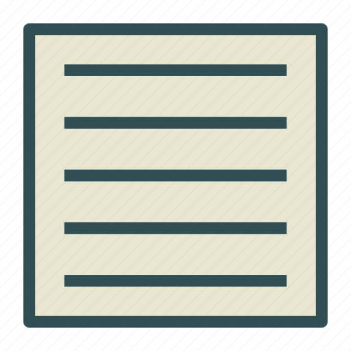 document, file, justify, text icon