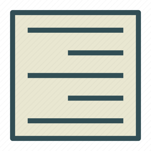 align, document, file, right, text icon