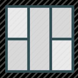 column, five, layout, left, presentation, right icon