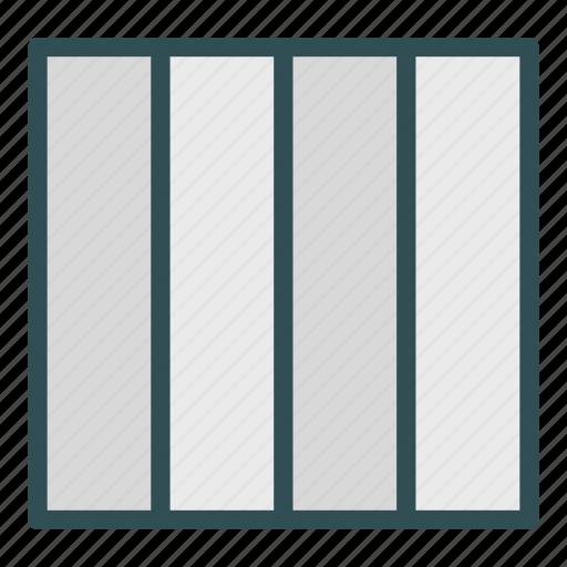 column, four, layout, presentation icon
