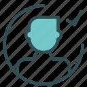 avatar, check, figure, man, ok, user icon