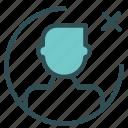 avatar, cancel, figure, man, multiply, user icon