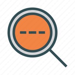 glass, magnifying, search, waiting icon