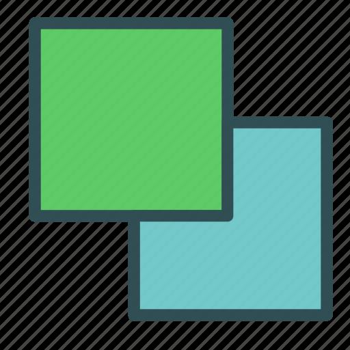 box, overlay, square icon