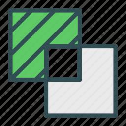 box, overlay, photo, picture, square icon