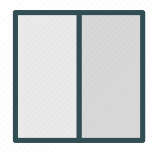 column, layout, partition, website icon