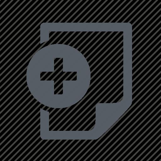 add, document, file icon