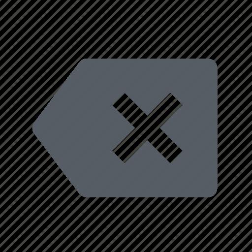 arrow, backspace, left icon
