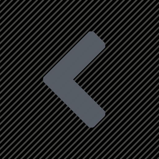 arrow, left, navigate icon