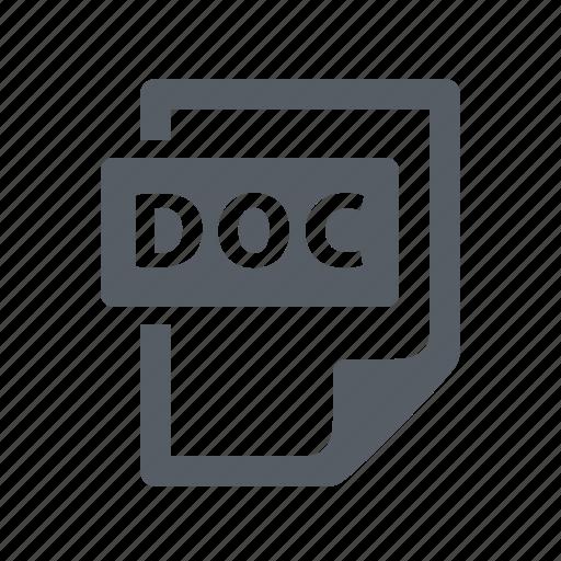 doc, document, file icon