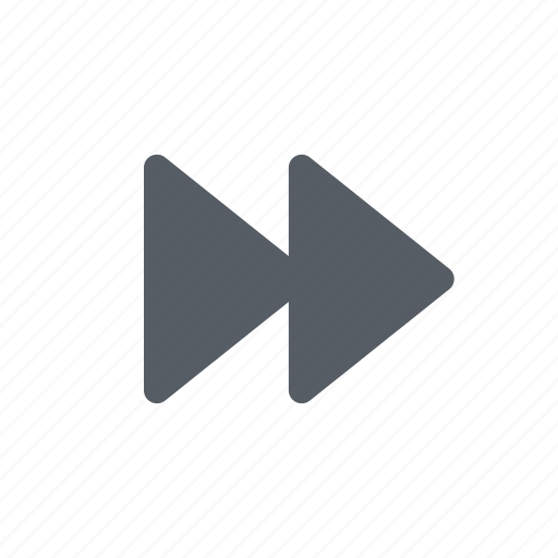 arrow, audio, fast, forward, video icon