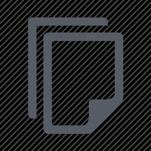 document, duplicate, file icon