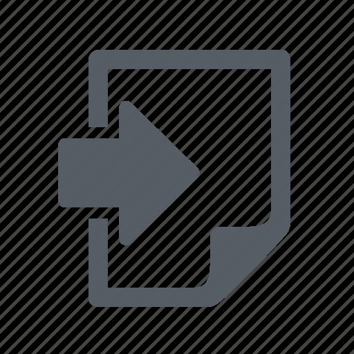 document, file, import icon
