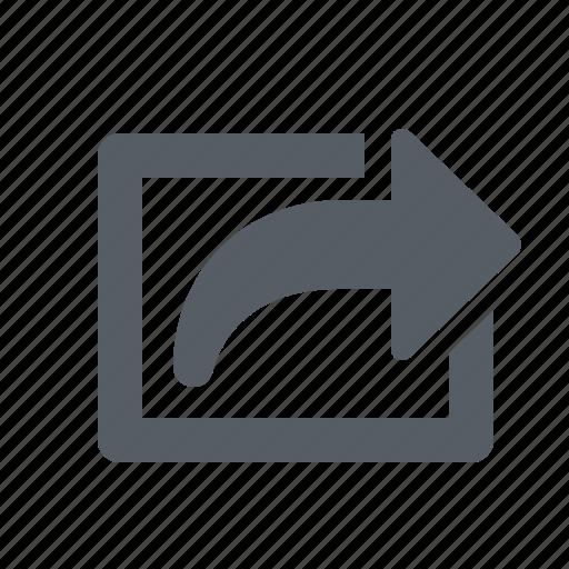arrow, external, link, share icon