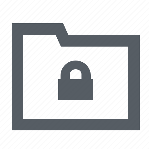 folder, interface, lock, security icon