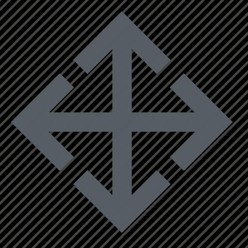arrow, drag, interface, move icon