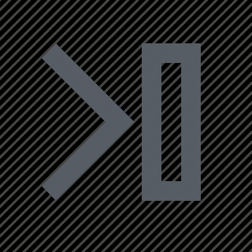 arrow, audio, forward, interface, skip, video icon