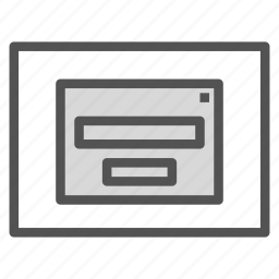 browser, popup, registration icon