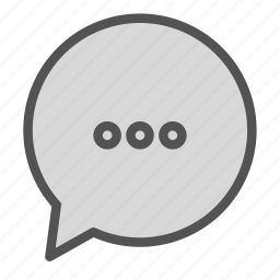 bubble, chat, waiting, writing icon