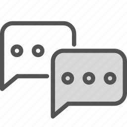 box, bubble, chat, messenger icon