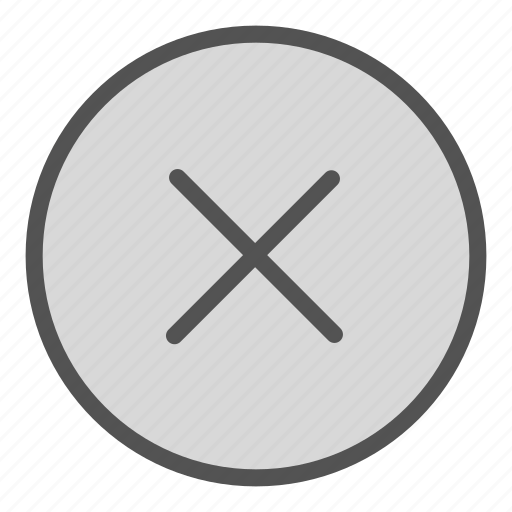 cancel, circle, shape, sign icon