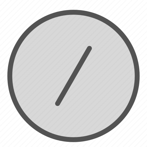 circle, division, shape, sign icon