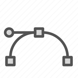 curve, edit, line, tool, warp icon