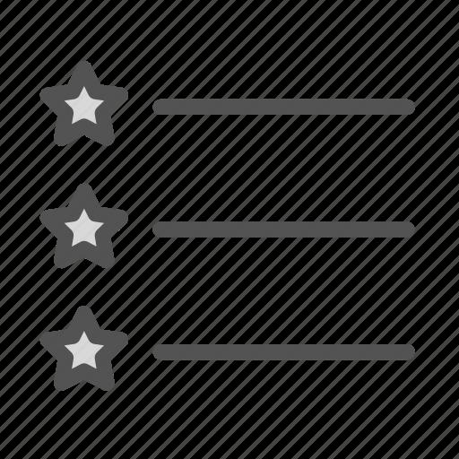favorite, list, star icon