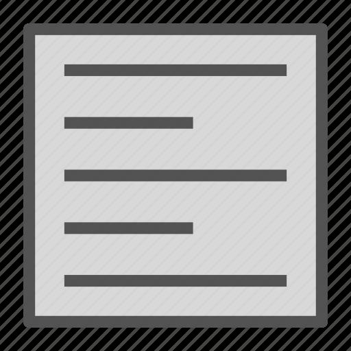 align, document, file, left, text icon