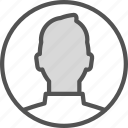 circle, man, photo, profile, shape icon